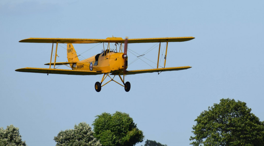 de Havilland Tiger Moth seen at the Moth Club Charity Flying Weekend held at Shuttleworth (Old Warden) Aerodrome on 10th / 11th June 2017 - photograph by Debbie Land