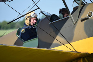 One of the lucky winners gets ready for their flight in a Tiger Moth - photograph by Debbie Land