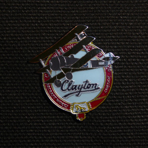Sopwith Triplane Pin Badge, based on the WW1 Clayton & Shuttleworth aircraft works logo
