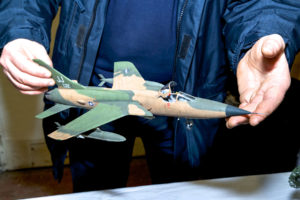 Chris Jones' F105D Thunderchief model, winner of Category 2