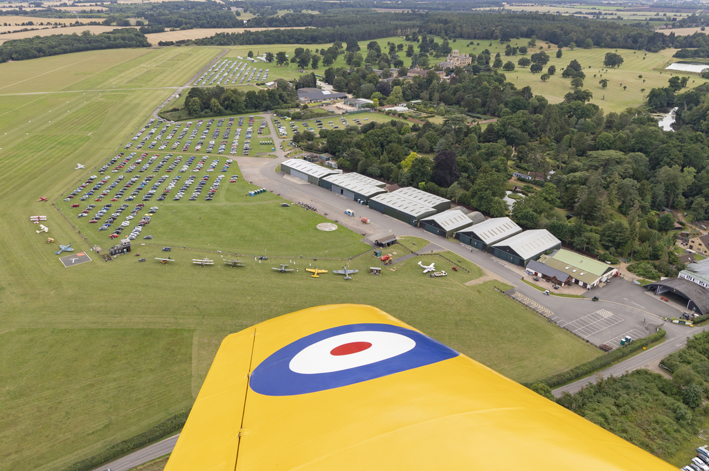 Arrive by air to a Shuttleworth air display - photograph by Darren Harbar
